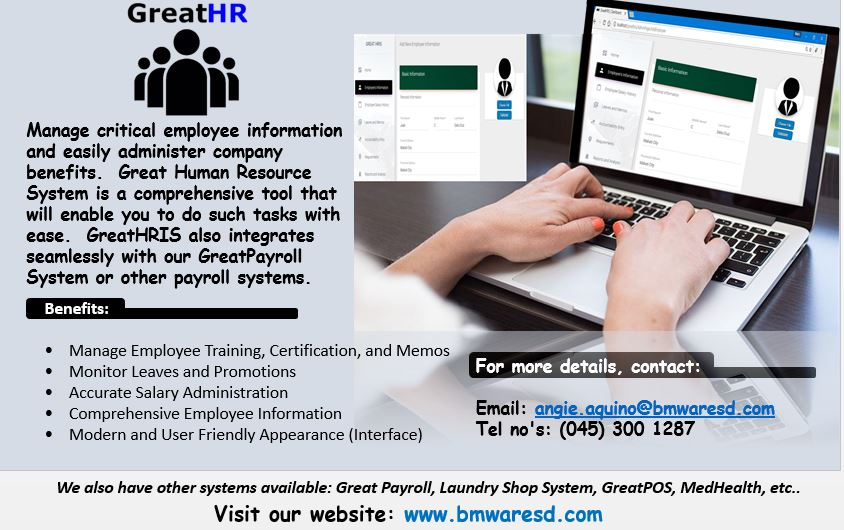 Great Benefits of Great Human Resources Information System (GreatHRIS)