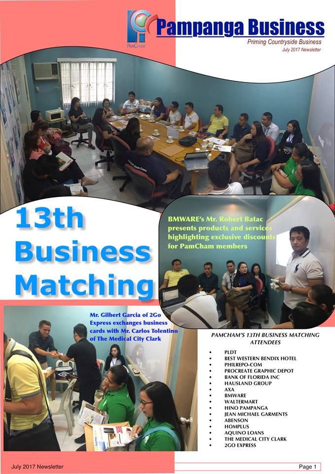 BMWare at PamCham 13th Business Matching
